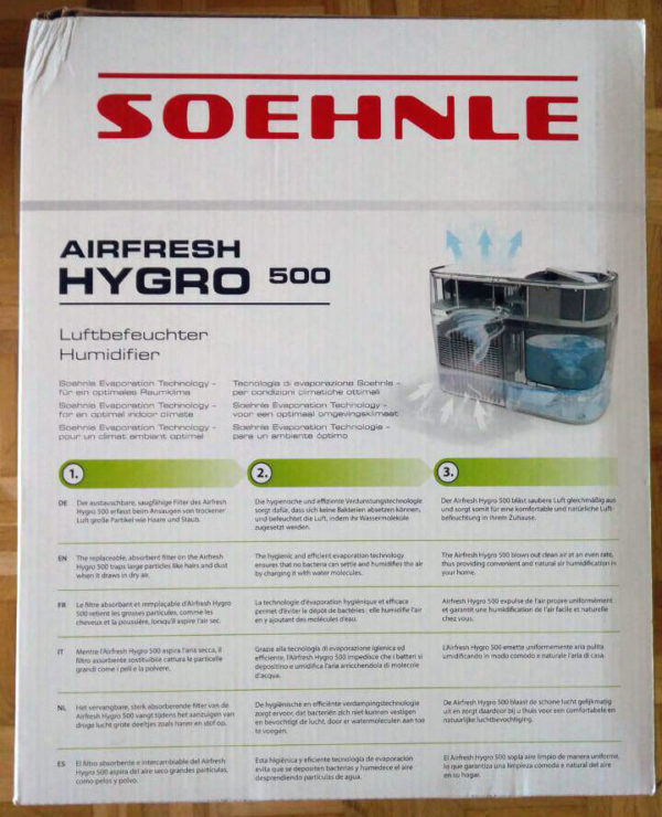 Soehnle Luftbefeuchter Test Verpackung
