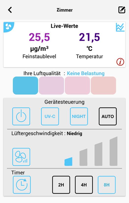 Soehnle Connect Luftreiniger App